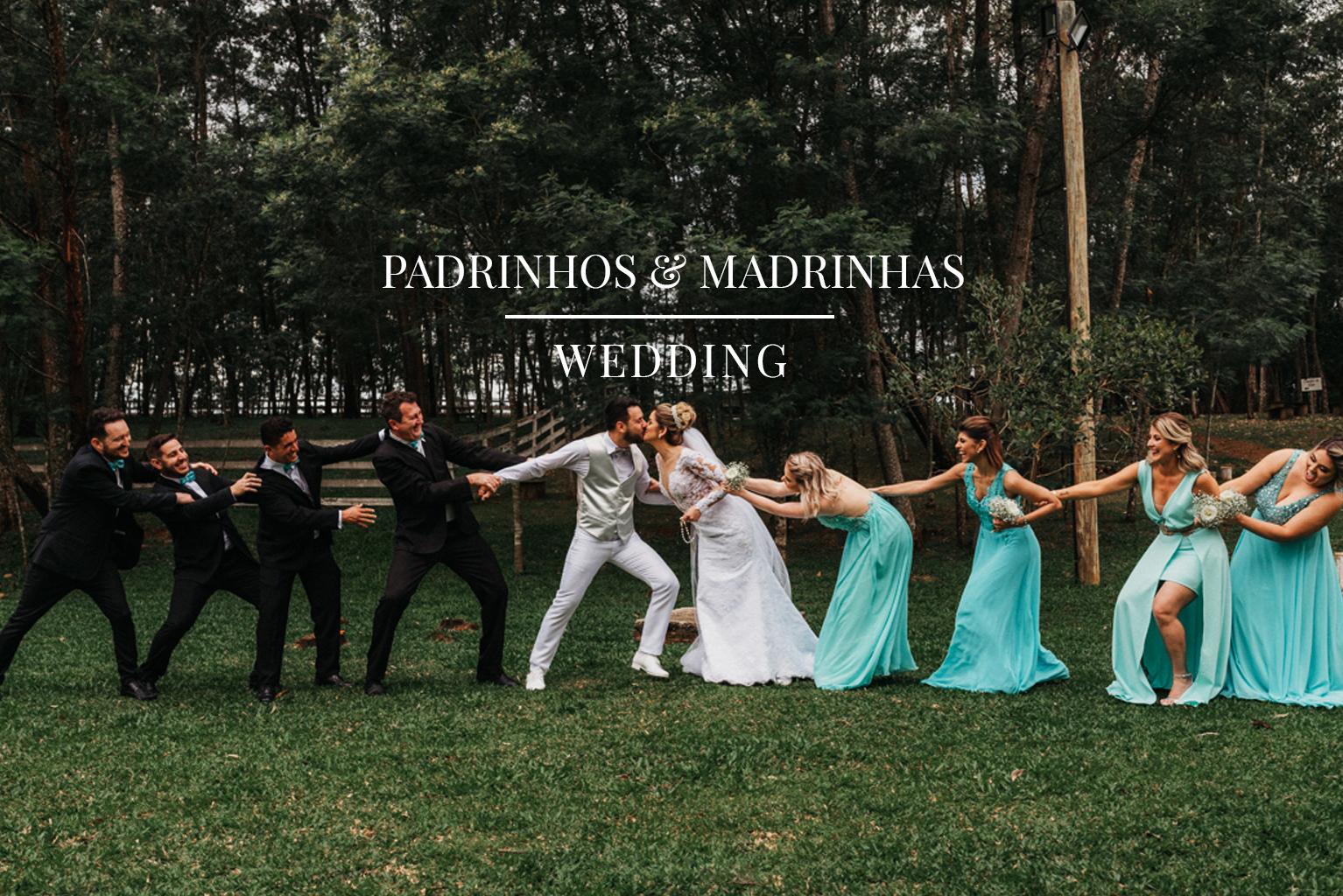 Fotos inusitadas com padrinhos e madrinhas de casamento